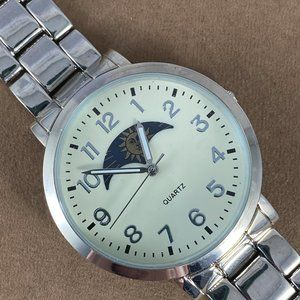American Eagle Outfitters Silver Moon Phase Watch
